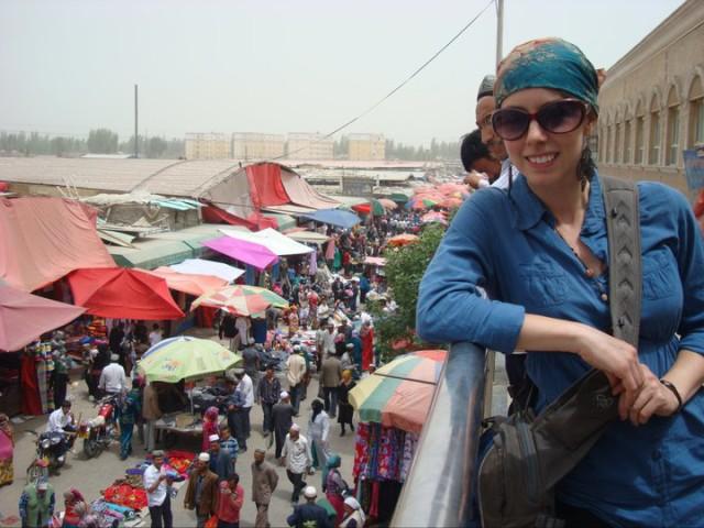 Sunday market in Hotan, Xinjiang, China