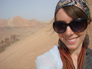 Ashley in Turpan, China.