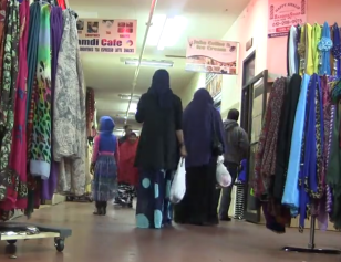 Somali shoppers at a  specialized shopping mall in Minneapolis