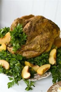 Kalkun panggang, hidangan khas hari bersyukur di Amerika.