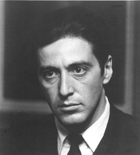 Aktor Al Pacino memerankan tokoh Michael Corleone dalam film 'The Godfather' keluaran tahun 1975, yang didasarkan pada novel berjudul sama karya Mario Puzo.