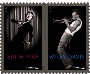 Music legends Miles Davis and Edith Piaf