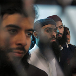 Defendants linked to al-Qaida are seen at the state security court of appeals, in Sana'a April 23, 2013. (Reuters)