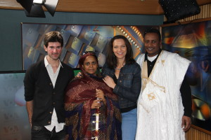 Matthew Tinari (left), Noura Mint Seymali, Heather Maxwell, Jeiche Ould Chighaly (right)
