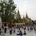 Tourists visit Burma's historic Shwedagon Pagoda (photo by Katherine Cole)
