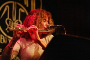 Flutist Andrea Brachfeld at Birdland, New York (Courtesy A. Brachfeld)