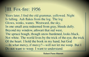 Robert Penn Warren's poem