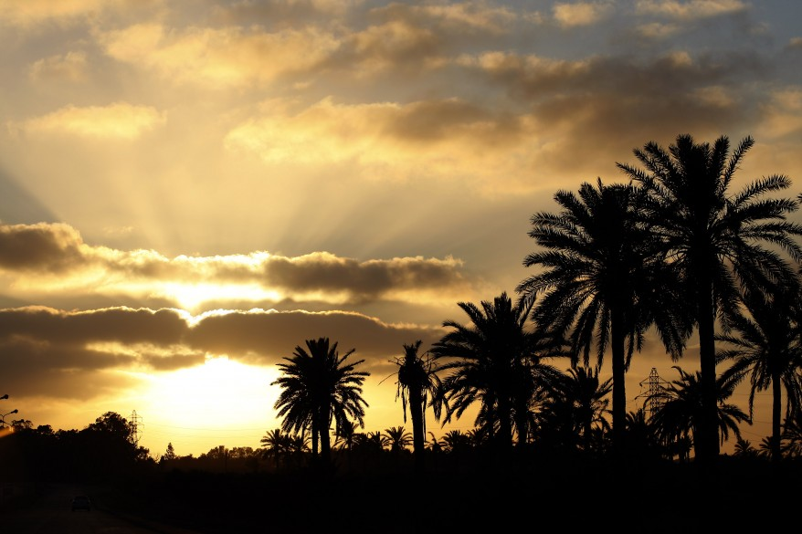 """Sunset in Misrata, Libya"""