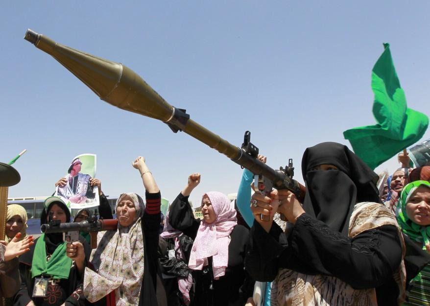 """""""Libya Female Volunteer Fighters"""""""