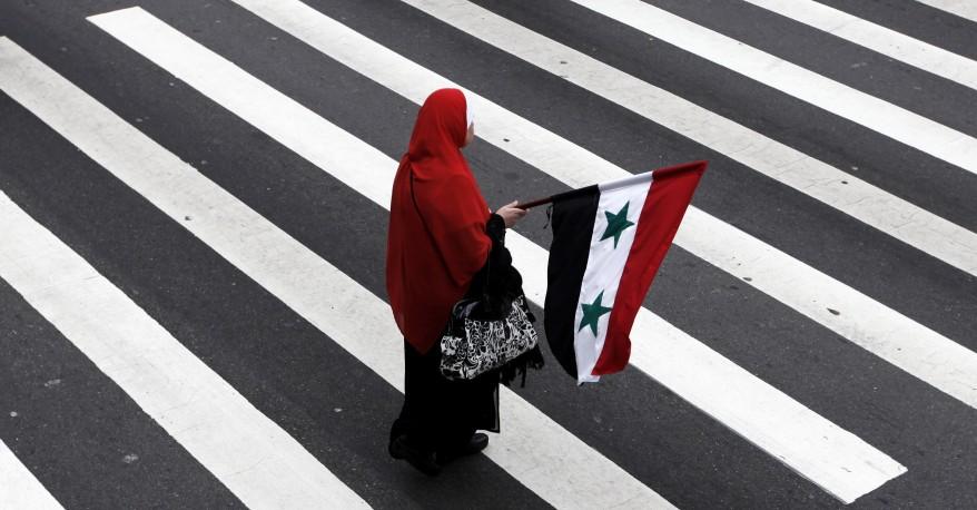 Syria demonstrator