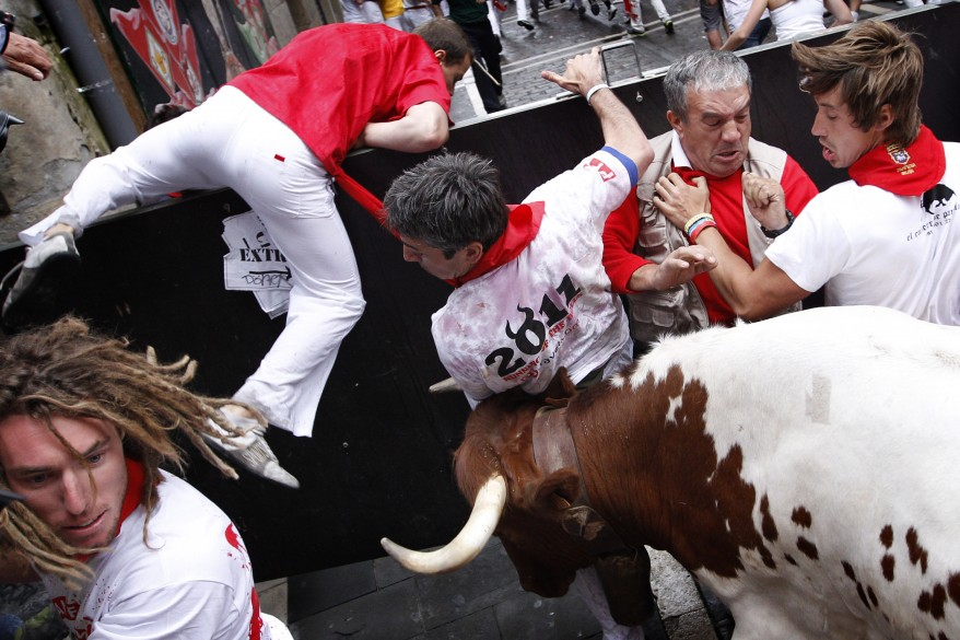 """Spain Running Of The Bulls"""