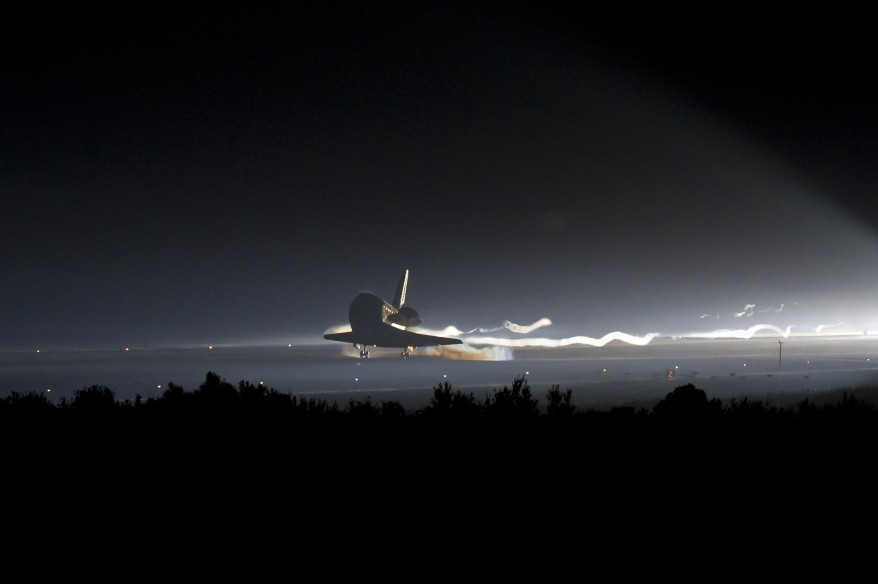 """Space Shuttle Atlantis Landing"""