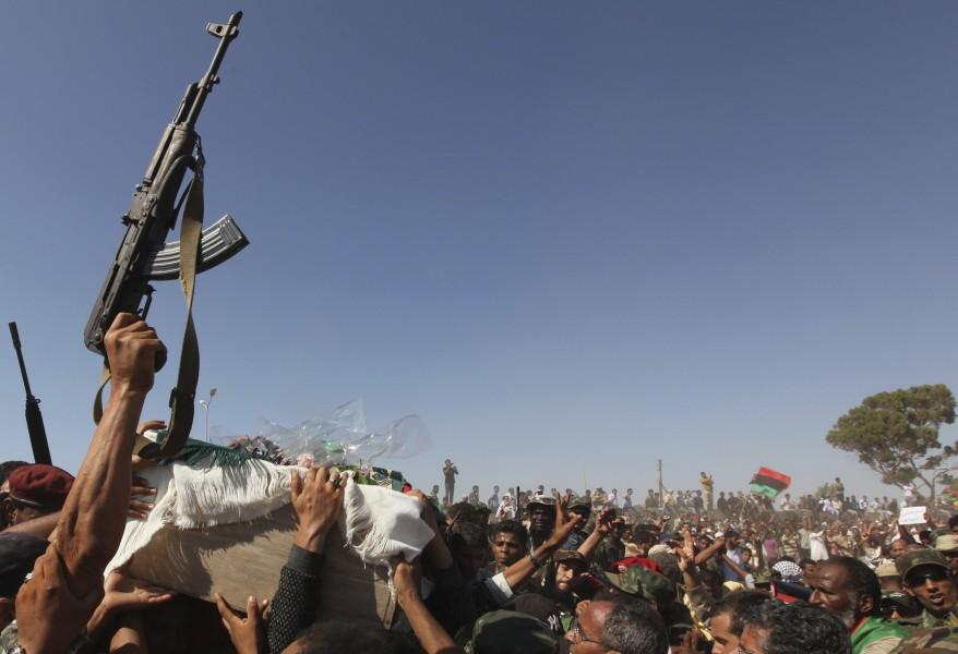 """Libya Military Commander Funeral"""