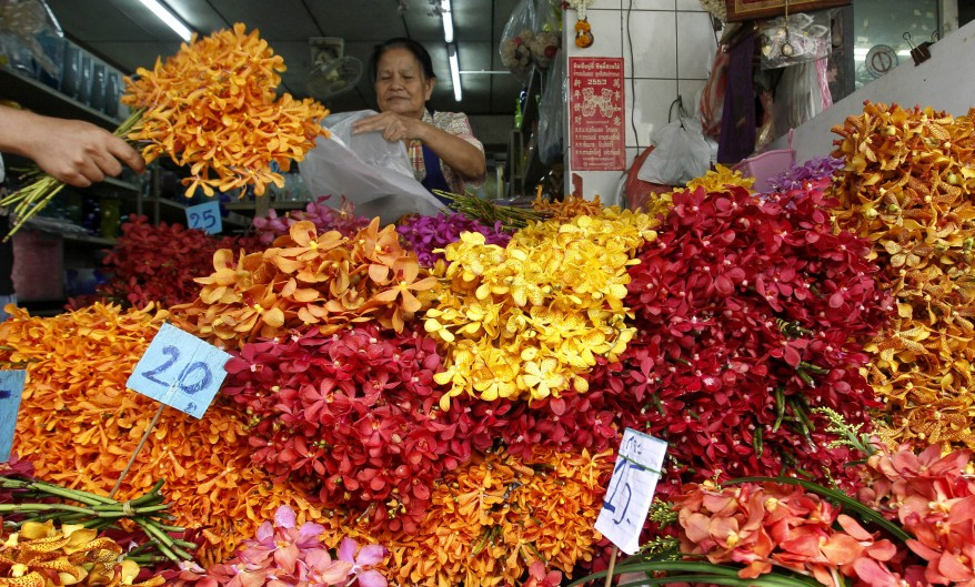 Thailand Flower Vendor