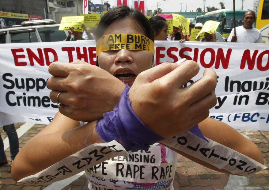 Burma Protests Manila