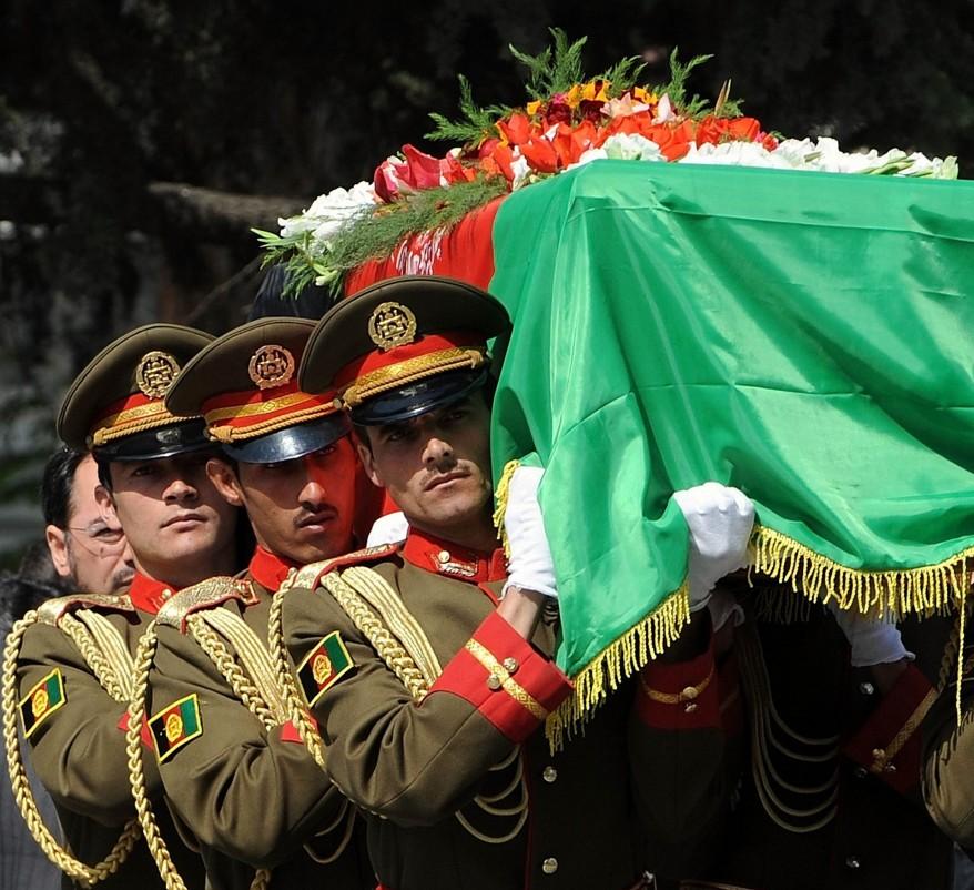 """Afghanistan Former President Funeral"""