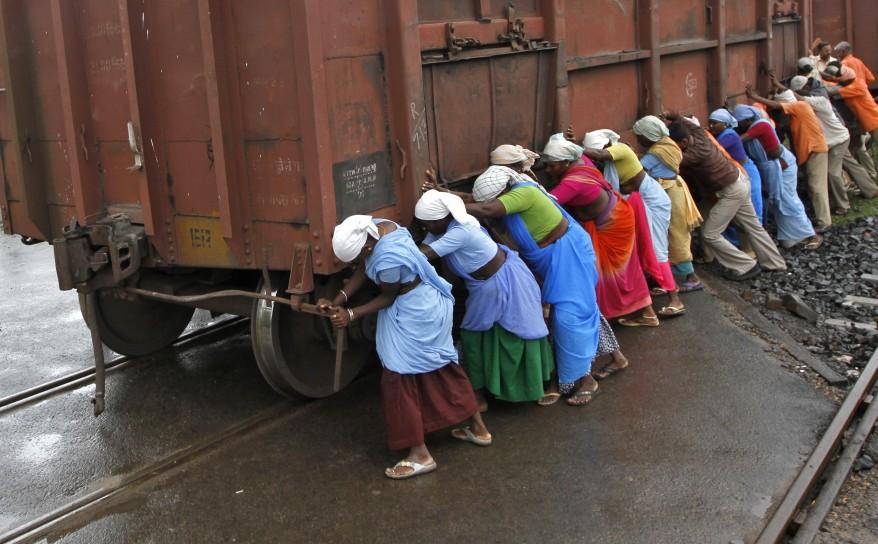 """India Railway Workers"""