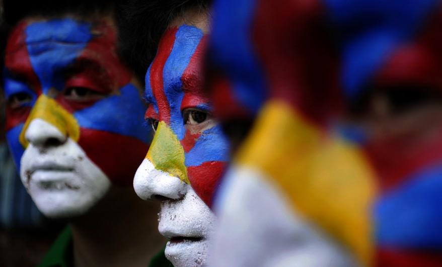 """India Tibet Protest"""