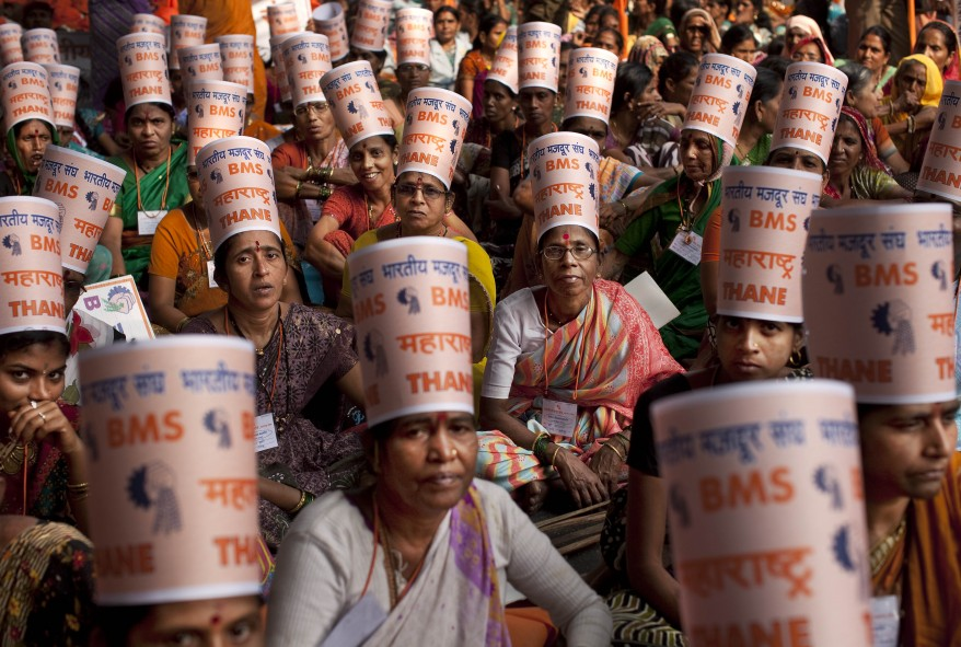 India Workers Protest