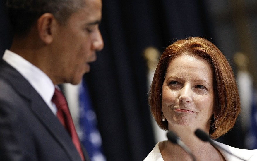 """Barack Obama, Julia Gillard"""