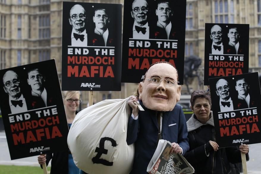 """Britain Phone Hacking Protest"""