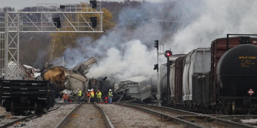 Illinois Freight Train Derailment