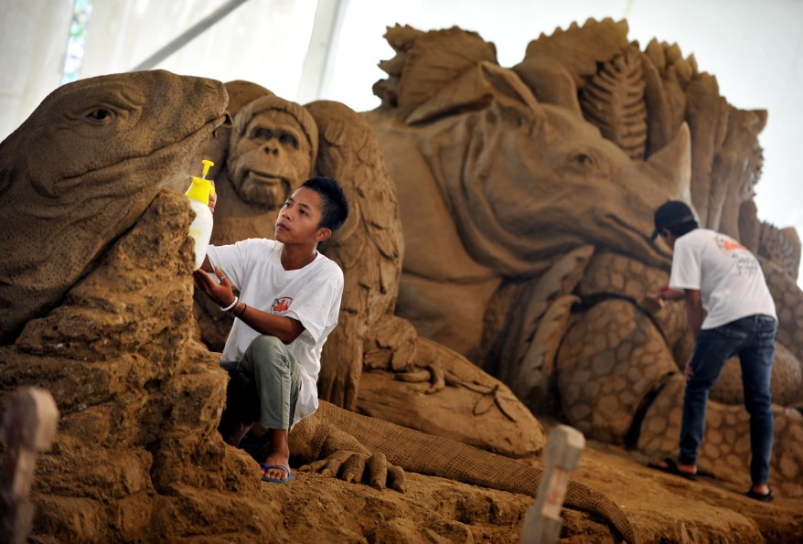 Indonesia Sand Sculptures