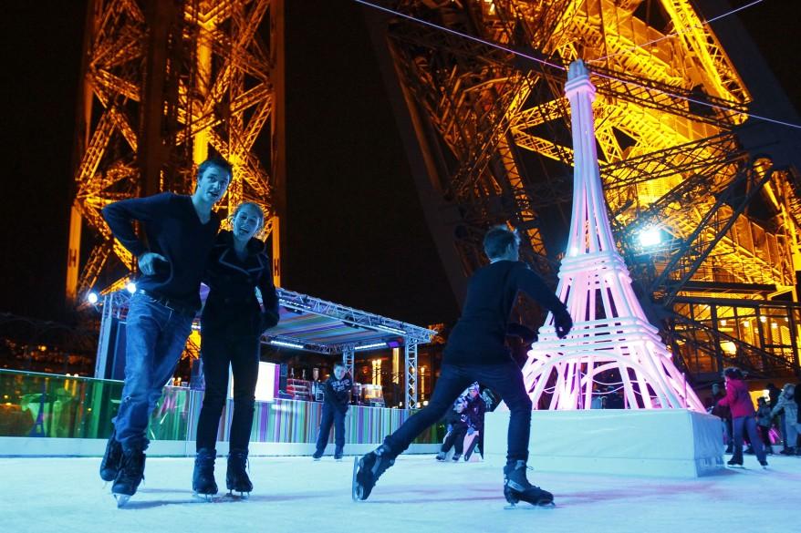 France Eiffel Tower Skating