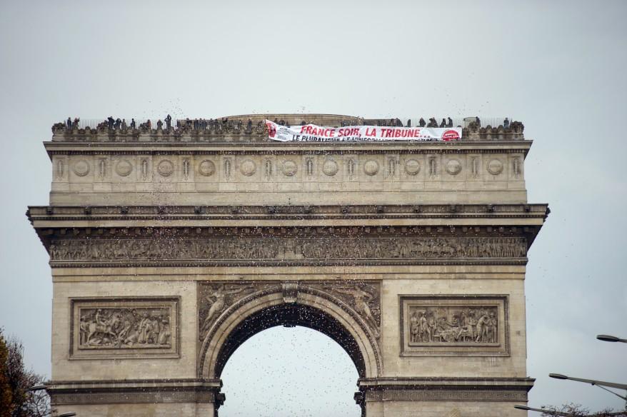 Paris Newspaper Protest