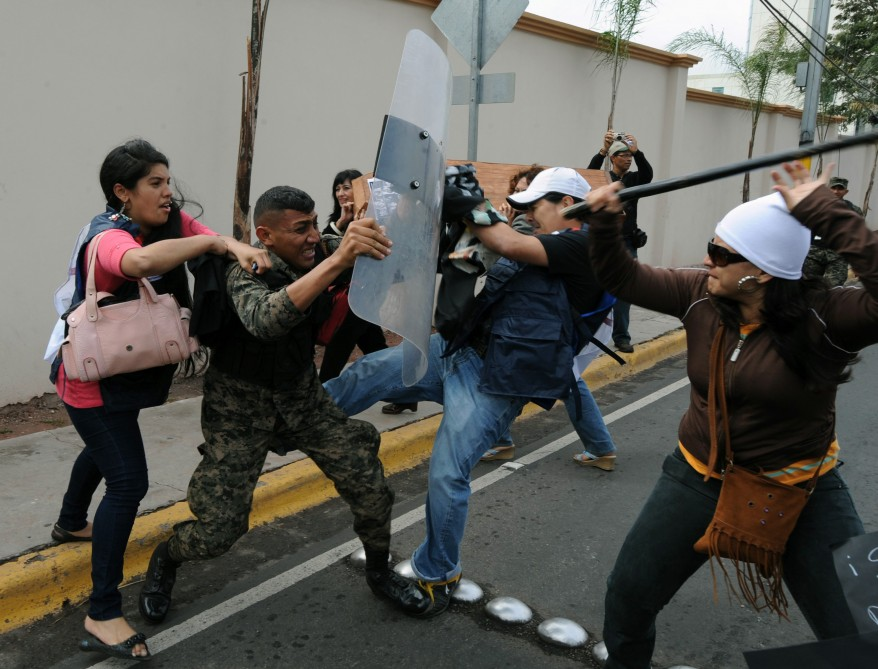 """Honduras Jurnalists Murder Protest"""
