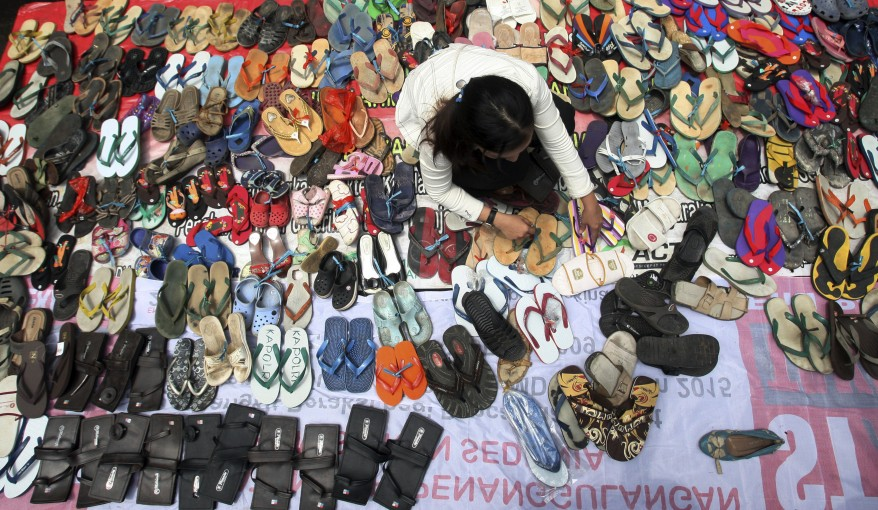 """Indonesia Sandal Protest"""