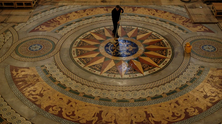 """Liverpool Minton Tiled Floor"""