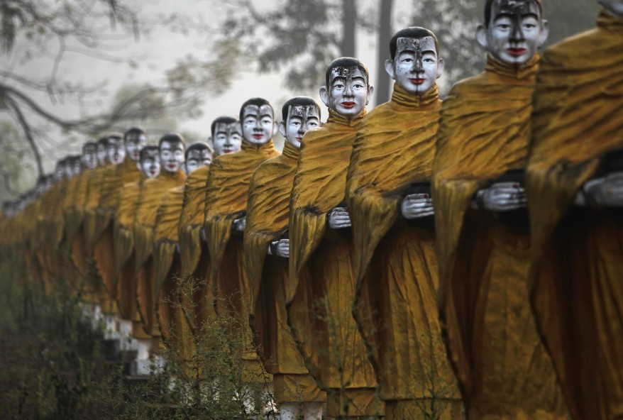 """Burma Monks Statues"""
