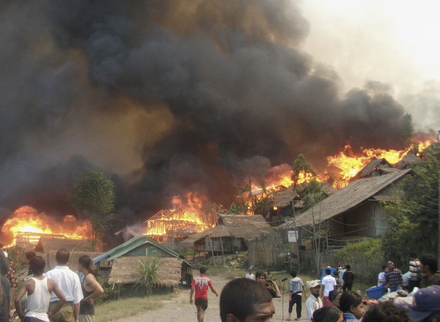 """Burma Thailand Refugee Camp Fire"""
