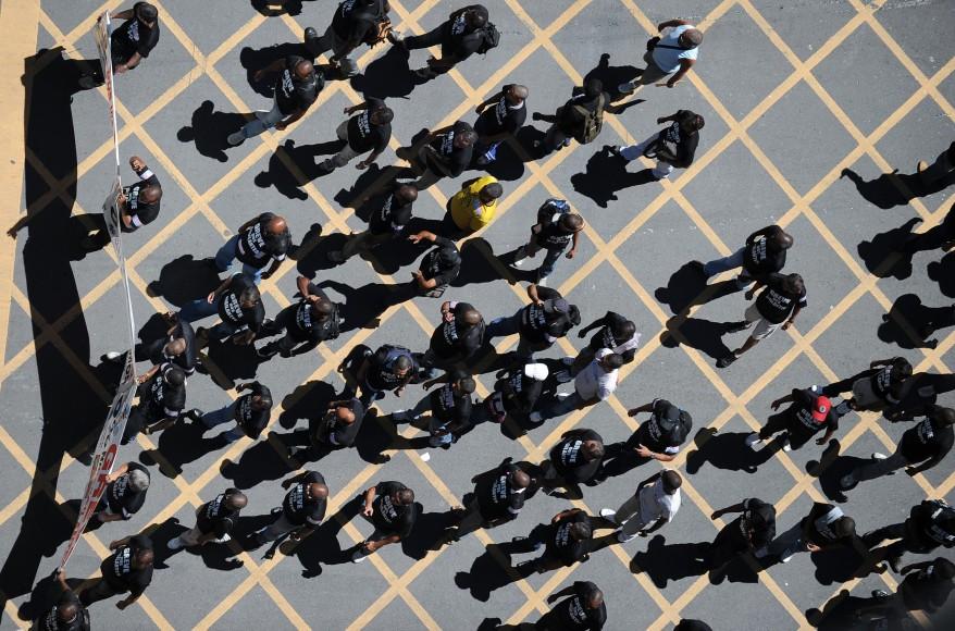 """Brazil Security Guards Strike"""