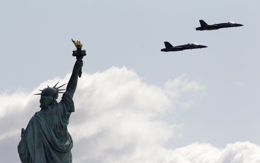 Blue Angels Statue of Liberty