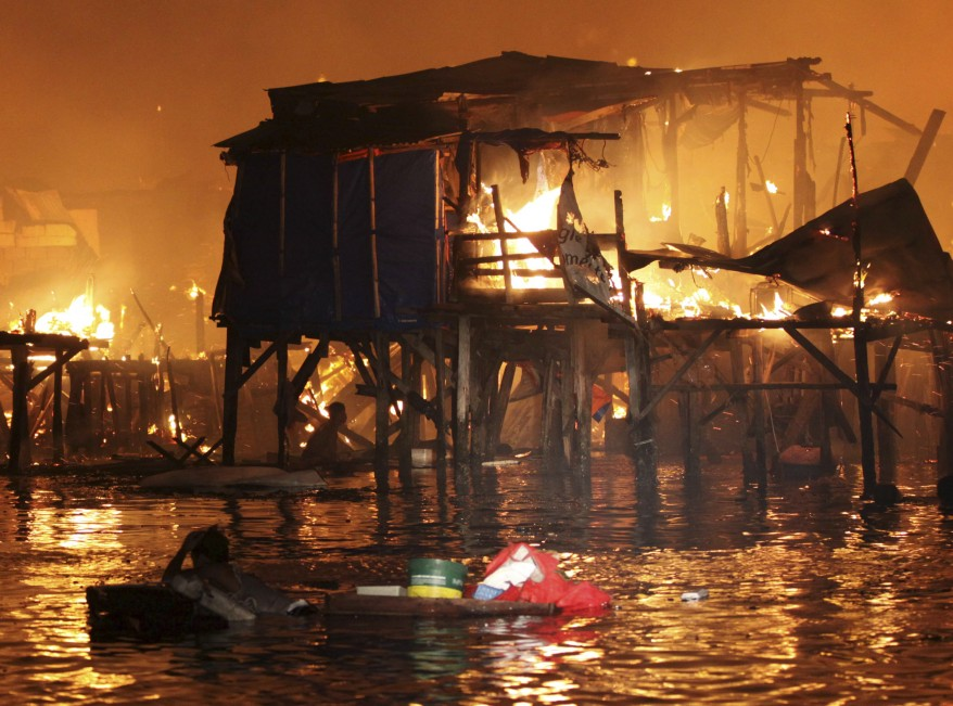 Philippines Slum Fire