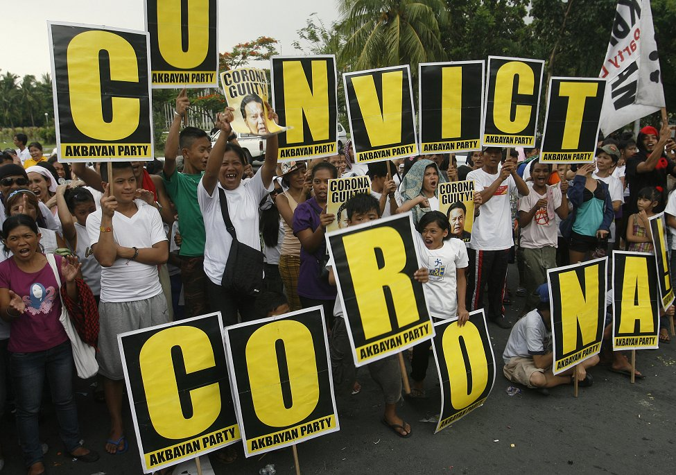 Philippines Corona Convicted