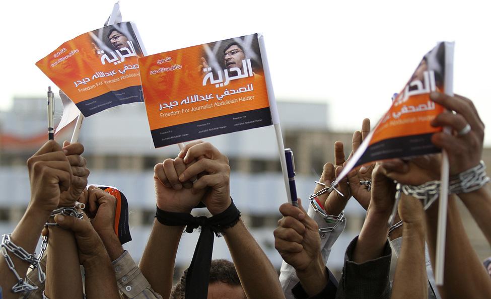 Yemen Protest Journalist