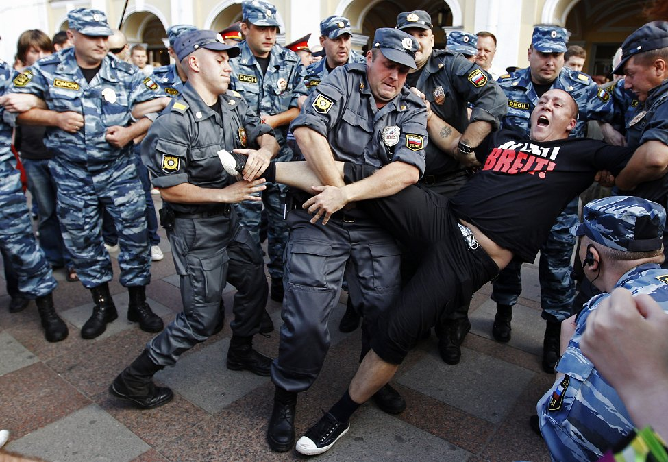 Russia Protest Police