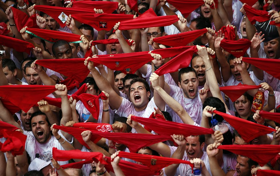 Spain Pamplona Red Scarves