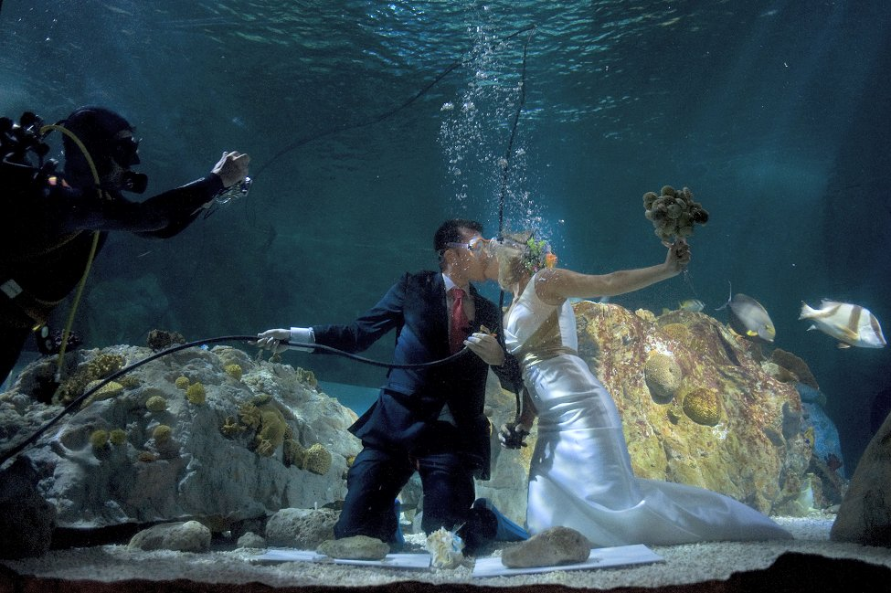 Spain Underwater Wedding