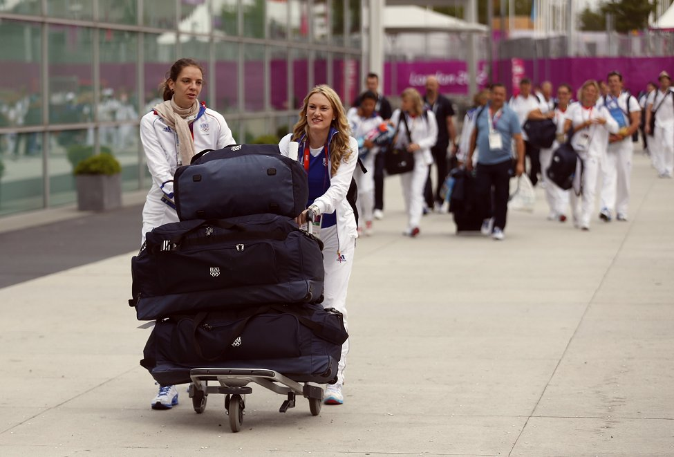 Olympics Athletes Leave
