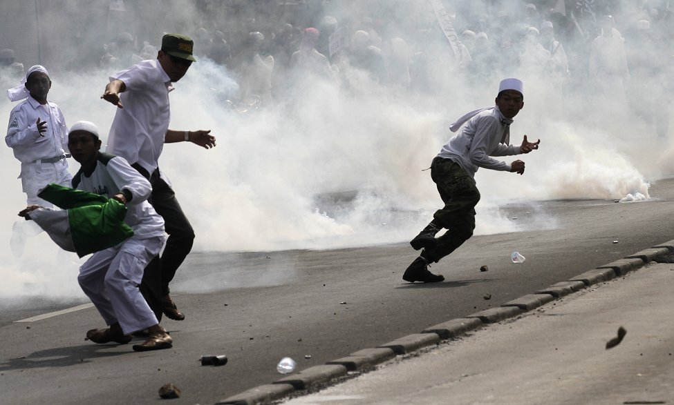 US Protests Jakarta