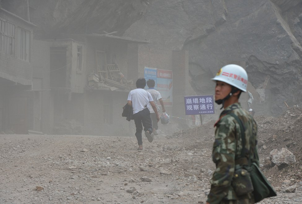 China Quake Landslide