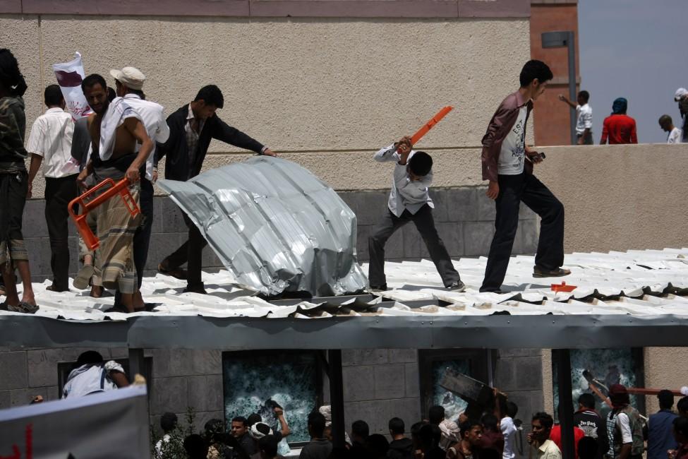 Yemen US Protest