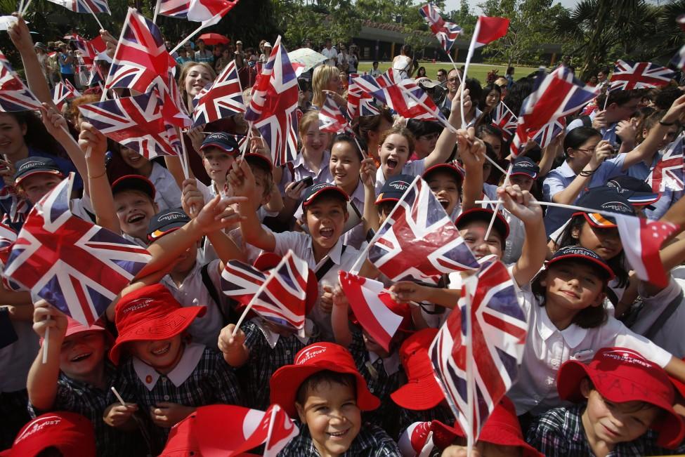 Singapore Britain Royals