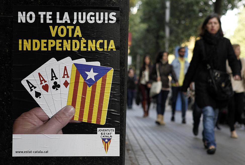 Spain Separatist Banners
