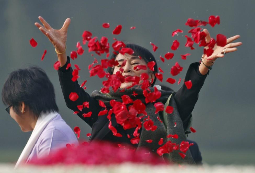 India Burma Suu Kyi