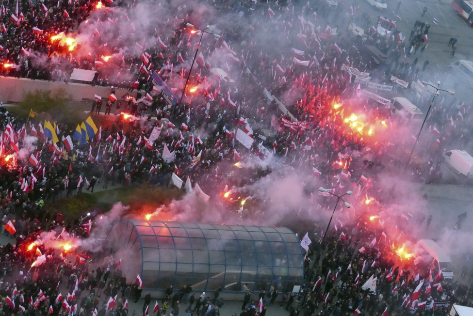 Poland National Holiday Protest